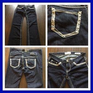 Women's long boot cut jeans